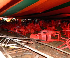 Police book BJP leaders after canopy collapse at Modi rally