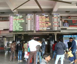 Passengers at New Delhi railway station