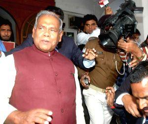 Bihar CM and  Speaker during a programme at Raj Bhawan