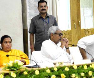 Nitish Kumar-Uma Bharti during a meeting