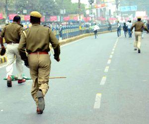 Police lathi charge students