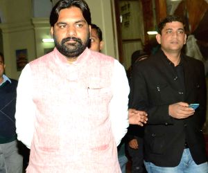 Bihar CM comes out after cabinet meeting