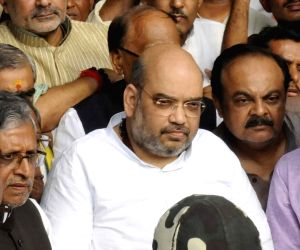 Amit Shah at Patna Airport