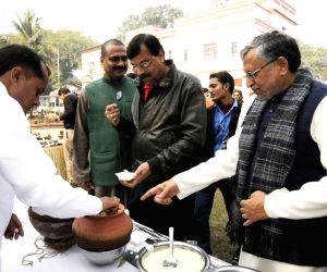 Makar Sankranti feast at S K Modi's residence