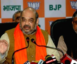 Amit Shah addressing media