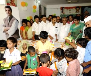 Rahul Gandhi's 45th birthday celebration at Sadakat Aashram