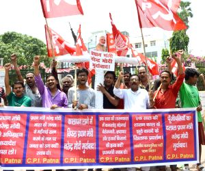 CPI demonstration against Modi