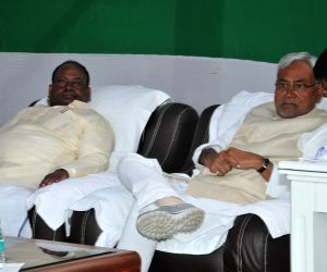 Nitish Kumar at the residence of RJD leader