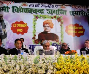 Nitish Kumar pays tribute to 'Swami Vivekanand'