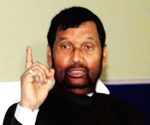 Ramvilas Paswan during a press conference
