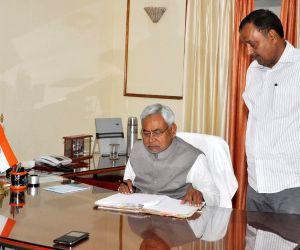 Nitish Kumar assumes charge as Bihar CM