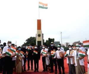 City Police Commissioner during 74th Independence Day celebrations