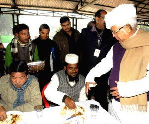 Makar Sankranti feast at Lalu's residence