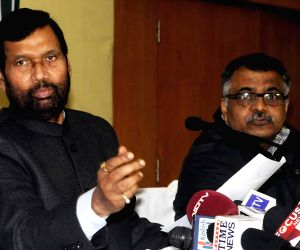 Ram Vilas Paswan during a press conference