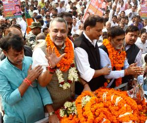 Union MoSs from Bihar welcomed by BJP workers