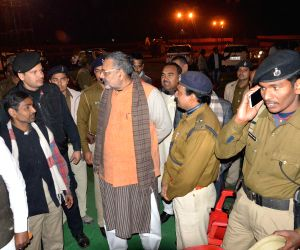 Giriraj Singh inspects preparations for Amit Shah's upcoming rally