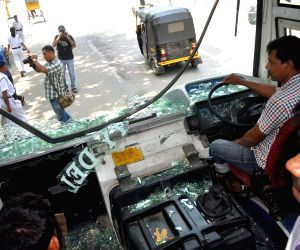 12-hour Assam bandh - busses damaged