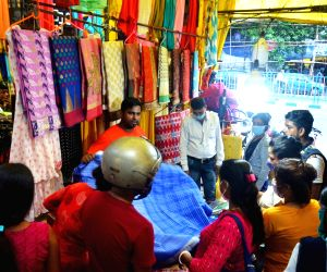People gathered at market for shopping ahead of Durga Puja Festival