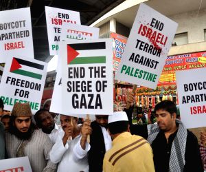Demonstration against Israeli attacks on Gaza