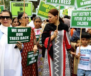 Demonstration against proposed felling of trees