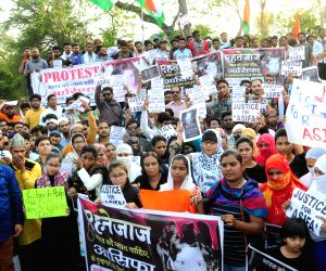Protests against Unnao, Kathua rape incidents
