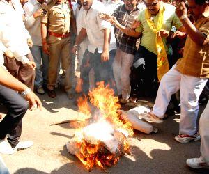 People protest against humiliation Devyani Khobragade near American consulate