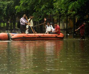 Waterlogged roads of Kolkata