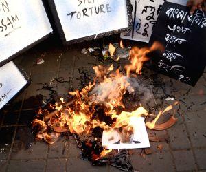 Demonstration against Assam Govt.