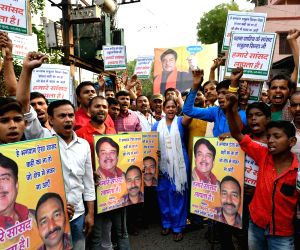 People's demonstration against Shatrughan Sinha