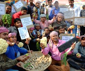 Demonstration against hike in vegetable prices