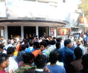 "People throng theatres to watch ""Baahubali 2"
