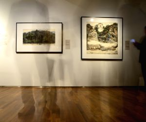 SINGAPORE-NATIONAL GALLERY-WU GUANZHONG EXHIBITION