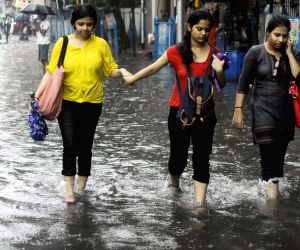 Water logged streets of Kolkata