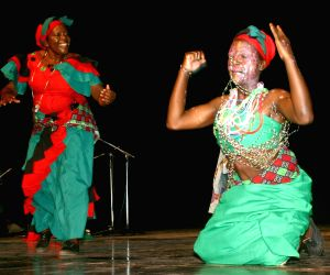 """Performance by """"Aka Kwacha"""" national dance troupe from Malawi during the Africa Festival in New Delhi on Wednesday."""