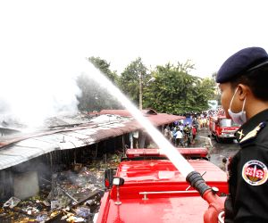 Phnom Penh (Cambodia): Fire at the Old Market