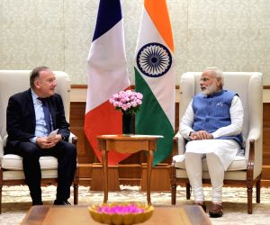President of MEDEF Pierre Gattaz meets PM Modi