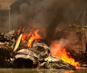 Pixian (China): Crashed aircraft