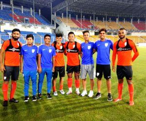 India U-16 players meet Indian National Team