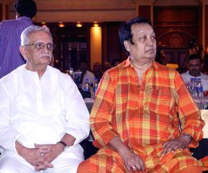 Gulzar, Bhupinder Singh during the launch of a music album
