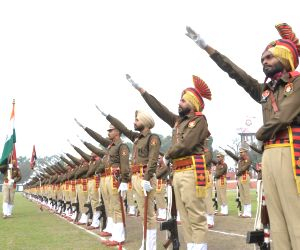 Police cadets during their Passing out Parade at Punjab Police Academy in Phillaur, Jalandhar on Feb 28, 2018.