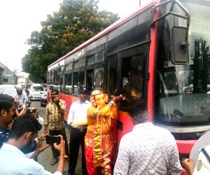 Police launched a unique traffic awareness drive where a man dressed up as Lord Ganesha distributed 'Modak' as 'prasad', blessed drivers who were following traffic rules and and administered ...