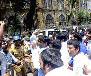 Lathi charge on Youth Congress activists