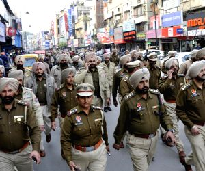 Police conduct flag march on ​Republic Day eve