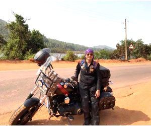 Venture out, advises woman biker who travelled solo for 2,000 km (Lead, Changing Designation)