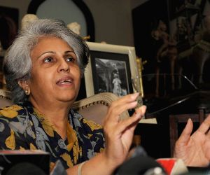 Pramoda Devi Wadiyar during the press conference at Mysore