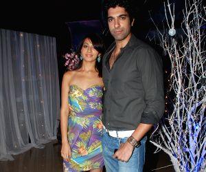 Prashant Raj with Girlfriend Supreet at Daniel Rudolph bash.