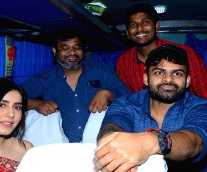 Pratiroju Pandaga Movie Team Bus tour