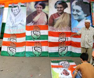 Preparation for Sonia Gandhi's rally