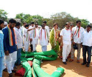 Preparations for Rahul Gandhi's rally