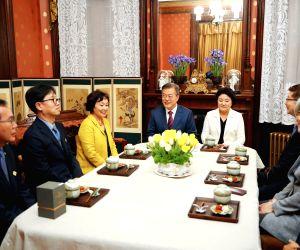 President Moon Jae-in visits former Korean legation in Washington